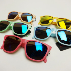 Pastel color sunglasses with mirror lens