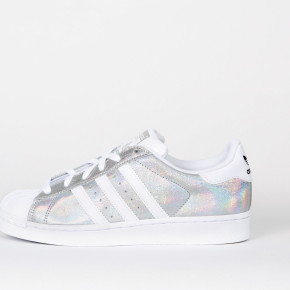 ADIDAS LADIES LEATHER SHOES SUPERSTAR SILVER