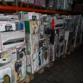 11 mixed pallets Electrical Appliances - per pallet for just 270 €!