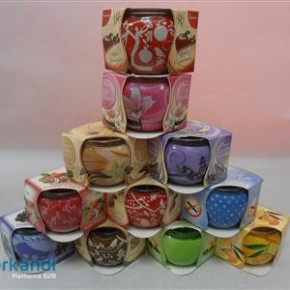 Fragrance Candle Glass mix