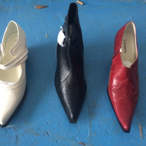 Ladies shoes, artificial leather footwear
