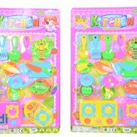 Kitchen set, two assorted designs per carton Each Blister Card