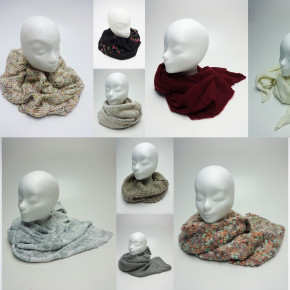 Winter scarves mix
