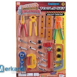 tool play set consists of 22 tools and accesories.