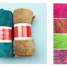 Blanket, Coral fleece, approx. 70x100cm, several colors