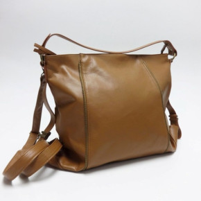Brown handbags with zippers on front side