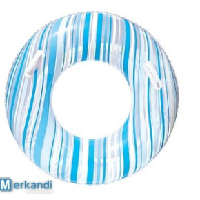 Adult Swim Ring, (90cm) with Handles Striped.