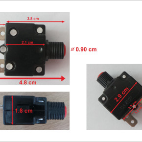 Push Reset Button Circuit Breaker Thermal Overload Protector