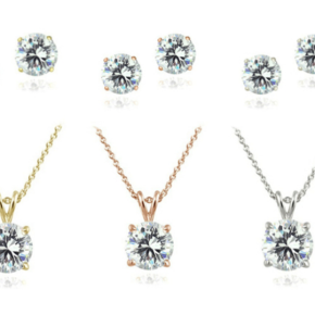 Swarovski crystal necklace and earrings sets