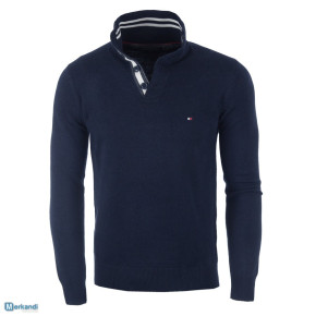 TOMMY HILFIGER men's sweaters navy blue - BUTTONS
