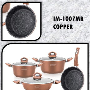 7pcs Marble Ceramic and Copper Coating Set