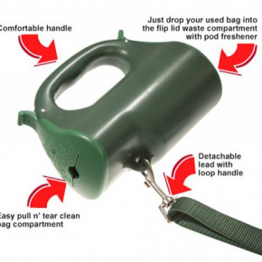 POOPOD extendable dog lead product with additional uses