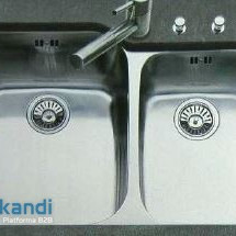 Exclusive SUTER Swiss undermount & topmount double bowl sinks