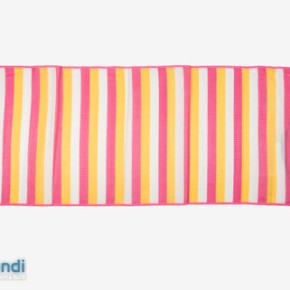 PP beach mat with carry strap and elastic bands