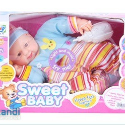 Battery Operated baby, with Light and Music