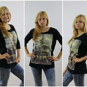 Women's printed with black