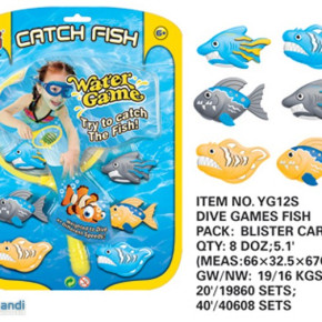 Fish shape water games swimming pool toys dive and catch toys