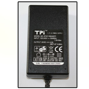 POWER PACK POWER ADAPTER 9V 4A 5.5/2.1 DC TPI + CABLE