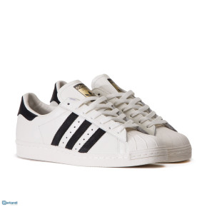 ADIDAS SUPERSTAR LADIES LEATHER SHOES WHITE BLACK