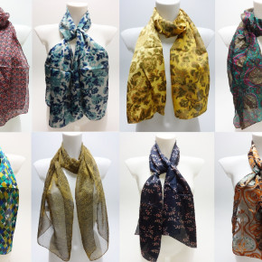 Scarves mix with different prints