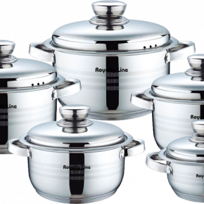 Royalty Line - 10 pcs stainless steel cookware set RL-1002
