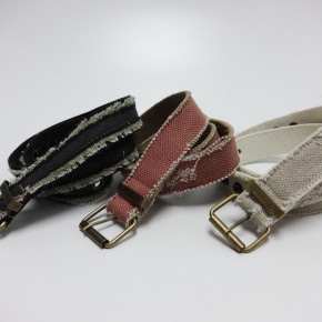 Canvas belts with frayed edges
