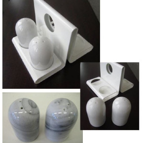 EGRO luxurious Salt and Pepper made of marble