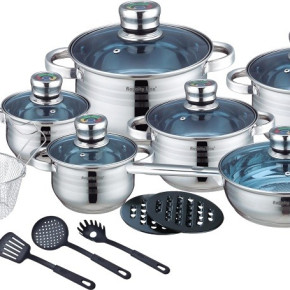 Royalty Line 16 pcs Stainless Steel Cookware set  RL-1801B