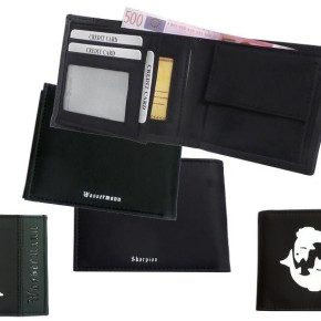 Wallets, PU/nubuck leather, approx. 12x9,5cm