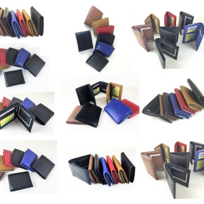 100 x Real Leather Men's Wallets per 4.99 EUR