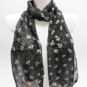 Army green scarves with graceful print
