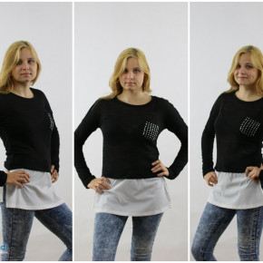 Sweaters blouse with pocket
