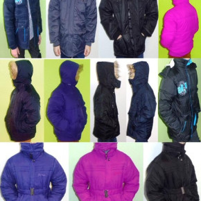 50 x winter jackets for girls and boys 10,00 € piece