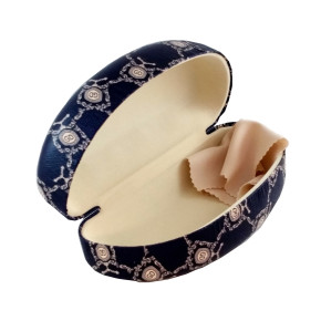 Glasses case with a cloth elegance and large MJ7619