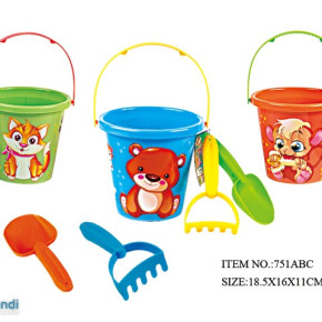 Beach Toy Bucket with accessories  Item No 751ABC