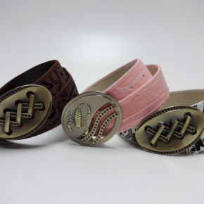 Canvas belts with big buckle with design