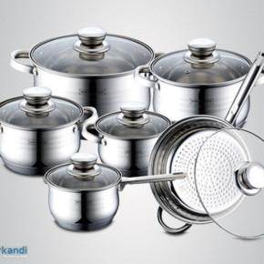 Royalty Line - 12 pcs stainless steel cookware set RL-1231