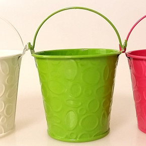 Metal pots shaped buckets
