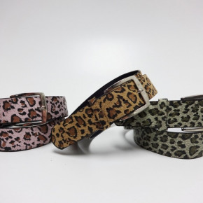 Leopard and snake print belts