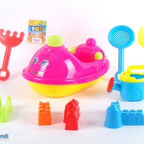 Ocean plastic beach boat with accessories sand toys