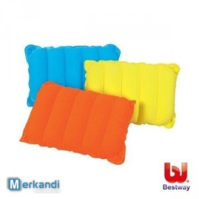 bestway inflatable flocked pillow 48 cm