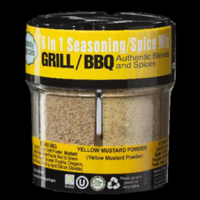 SASSY SPICE GRILL/BBQ 6 IN 1 SEASONING SPICE MIX