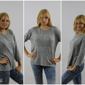 Gray blouse with glitter