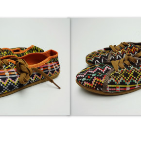 Sneaker shoes with Aztec print