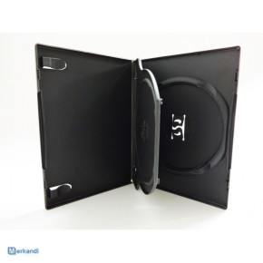 Black and transparent DVD-boxes