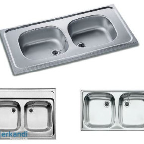 GERMAN-MADE stainless steel double bowl kitchen sinks