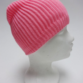 Pink knitted beanie hats