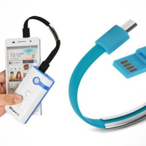 Cable bracelet charger USB / Micro USB MB-6678