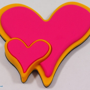 RUBBER MAGNET 2 HEARTS