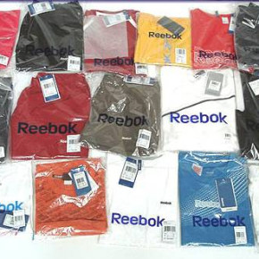 Reebok mixed packs of gymwear for ladies and men